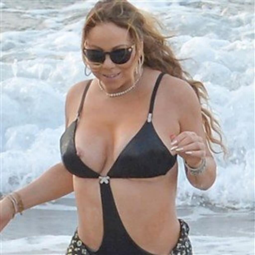 Mariah Carey Showing Off